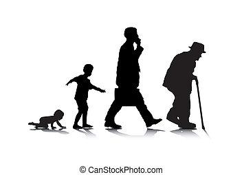 Menschen altern