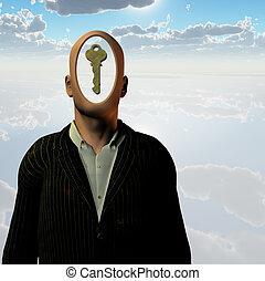 Menschlicher Schlüssel