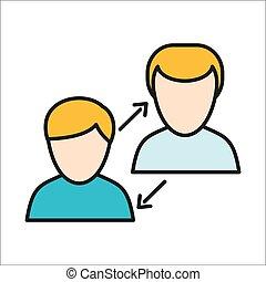 Menschliches Interaktionssymbol