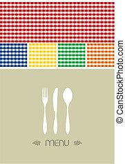 Menu-Design für Restaurant oder Café