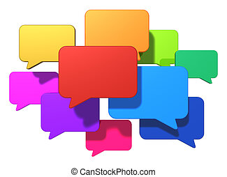 messaging, begriff, networking, internet, sozial