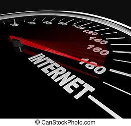 messen, web, statistik, -, hoch, verkehr, internet geschwindigkeit, oder