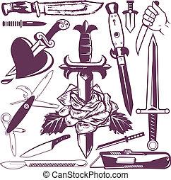 Messer und Dolchsammlung