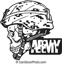 Militärdesign der US-Armee - Vektorgrafik.