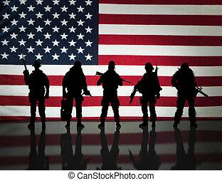 Militärische Spezialeinheiten.