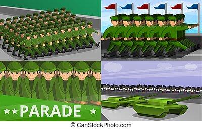 Militärischer Paradebanner, Zeichentrickfilm