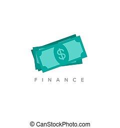 minimalist, begriff, finanz, abbildung