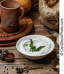 minze, joghurt, trocken, griechischer