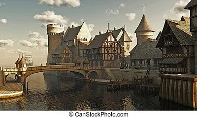 Mittelalterlich oder Fantasy Docks