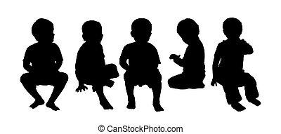 Mittelklasse Kindersitze Silhouette 4.
