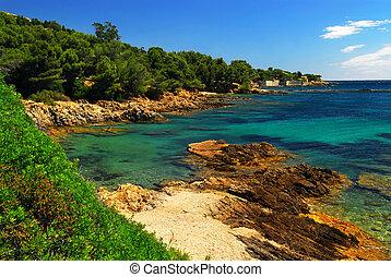 Mittelmeerküste der französischen Riviera