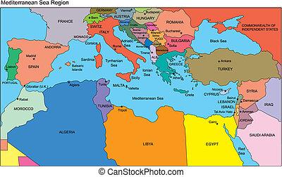 Mittelmeerregion, Länder, Namen