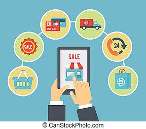 Mobile Bestellung und Zahlung.
