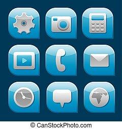 Mobile Interface Icon Set.