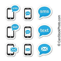 Mobile sms Textnachricht Ikonen
