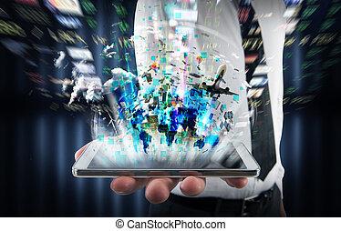 mobilfunk, multimedia