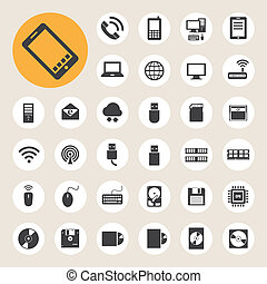 Mobilfunkgeräte, Computer und Netzwerkverbindungen sind eingestellt.
