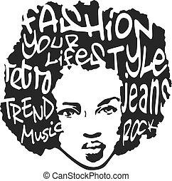 Mode-Mann-Pop-Kunstdesign
