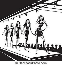 Modemodelle sind neue Kleidung.