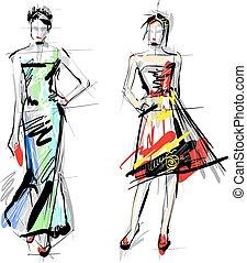 Modemodelle. Sketch.