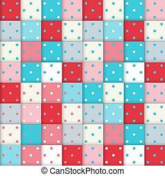 Modemuster mit Quadraten