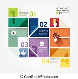 Modern Design Minimal Stil infographische Vorlage. kann für infographics .graphische oder Website-Layout Vektor verwendet werden