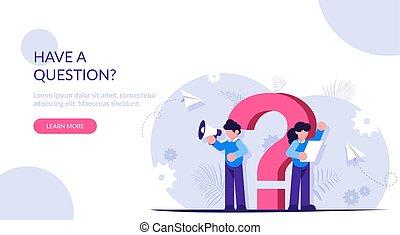 modern, wohnung, antwort, frage, wille, unterstuetzung, faq, questions., abbildung, personal, mark., hilfe, dein, hintergrund., concept.