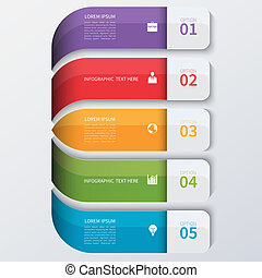 Moderne Business Infographics Optionen Banner.