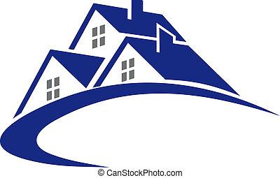 Moderne Hütte oder Haussymbol.