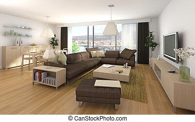 Moderne Innenausstattung der Wohnung