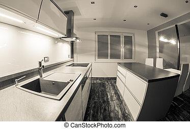 Moderne Küche.