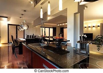 Moderne Küchenmöbel.