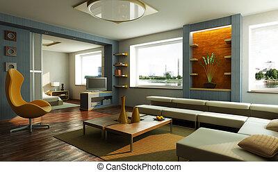 Moderne Lounge-Innen