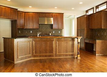 Moderne Wohnküche.