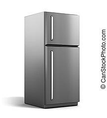 Moderner Kühlschrank isoliert