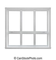Modernes Fenster isoliert auf weißem Hintergrund