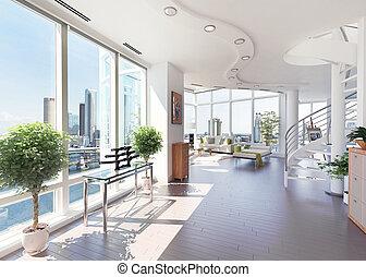 Modernes Penthouse.