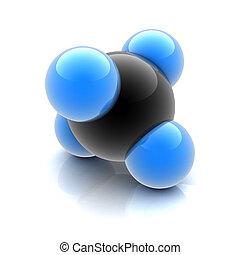 molekül, methan