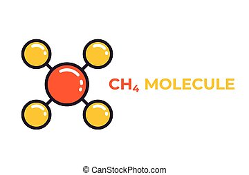 molekül, methan, ikone
