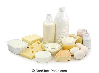 molkerei, eier, produkte