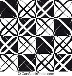 Monochrome geometrische Muster.