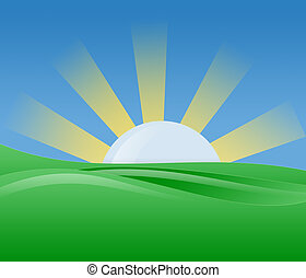 Morgensonne Illustration