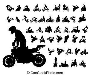 motor, radfahrer