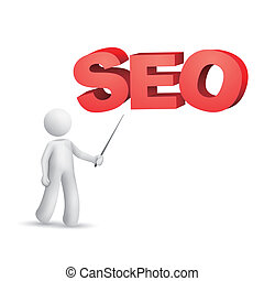 "motor, ""seo""(search, wort, zeigen, person, optimization), 3d"