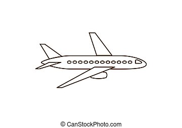 motorflugzeug, wohnung, ikone
