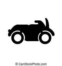Motorrad-Silhouette Ikone.