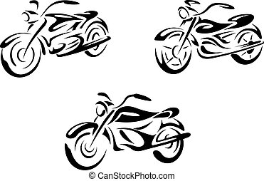 Motorrad und Motorrad