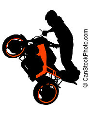 Motorradfahrer.