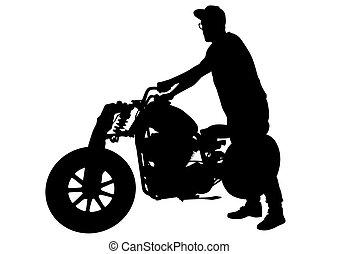 Motorradmotor.