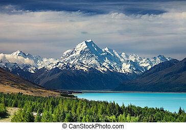 Mount Cook, neues Land